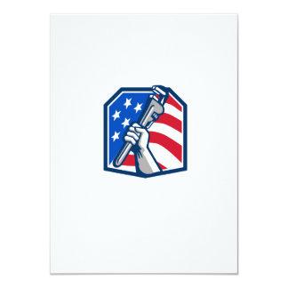 Cartão Bandeira dos EUA da chave de tubulação da mão do