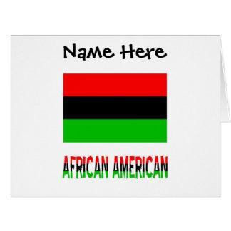 Cartão Bandeira e afro-americano africanos da diáspora