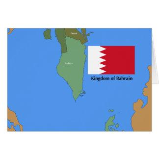 Cartão Bandeira e mapa do reino de Barém