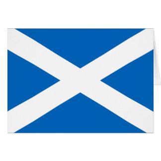Cartão Bandeira escocesa da cruz de Scotland St Andrew