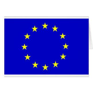 Cartão Bandeira européia