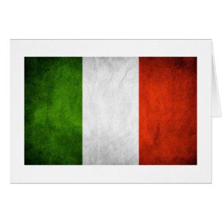 Cartão Bandeira italiana, bandeira de Italia