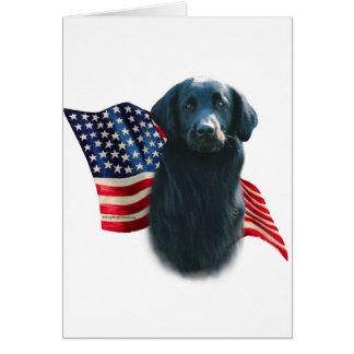 Cartão Bandeira Liso-Revestida do Retriever