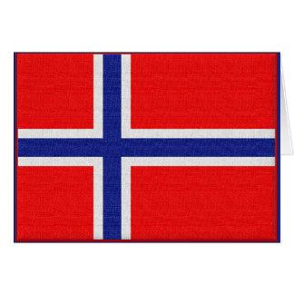 Cartão Bandeira norueguesa