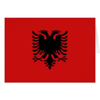 Cartão Bandeira Notecard de Albânia