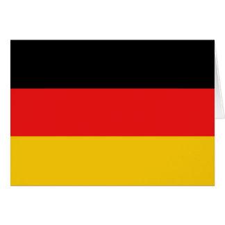 Cartão Bandeira Notecard de Alemanha
