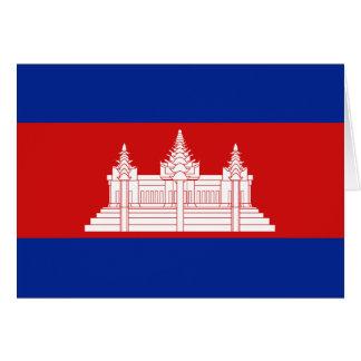 Cartão Bandeira Notecard de Cambodia