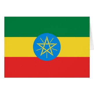 Cartão Bandeira Notecard de Etiópia