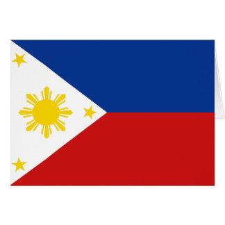 Cartão Bandeira Notecard de Filipinas