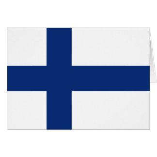 Cartão Bandeira Notecard de Finlandia