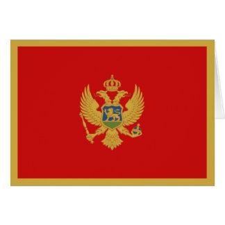 Cartão Bandeira Notecard de Montenegro
