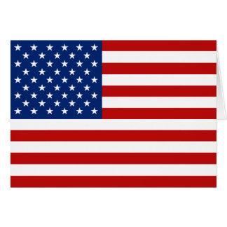 Cartão Bandeira Notecard dos EUA