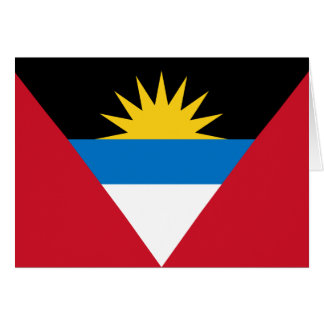 Cartão Bandeira patriótica de Antígua e de Barbuda