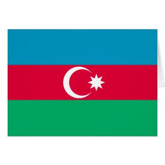 Cartão Bandeira patriótica de Azerbaijan