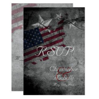 Cartão Bandeira patriótica dos EUA com as estrelas que