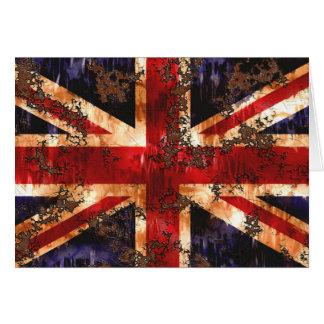 Cartão Bandeira patriótica oxidada de Reino Unido
