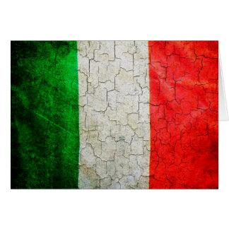 Cartão Bandeira rachada de Italia