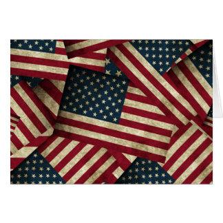 Cartão Bandeiras americanas afligidas