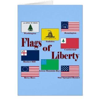 Cartão Bandeiras da liberdade