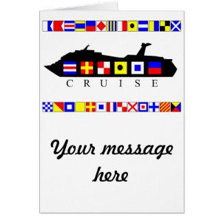 Cartão Bandeiras de sinal do cruzeiro