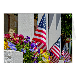 Cartão Bandeiras + Flores
