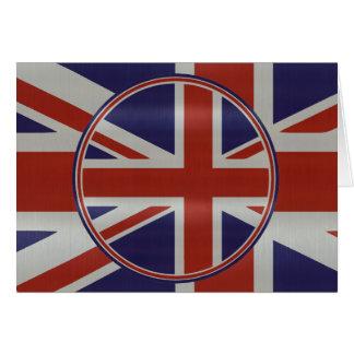Cartão Bandeiras metálicas do jaque de união do efeito