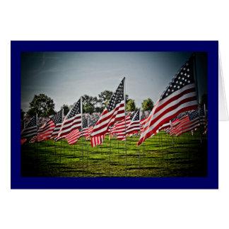 Cartão Bandeiras na arte Hill-9-11