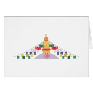 Cartão Bandeiras tibetanas da oração