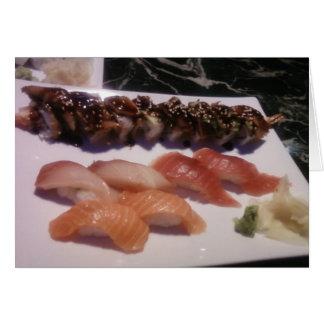 Cartão Bandeja do sushi