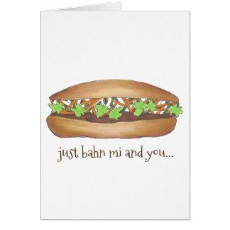Cartão Banh MI (entre mim) e você sanduíche vietnamiano