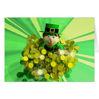 Cartão Banho do ouro do dia de um St Patrick
