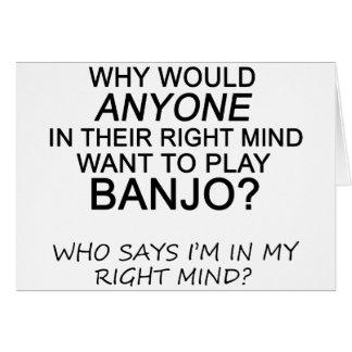 Cartão Banjo direito da mente