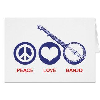 Cartão Banjo do amor da paz