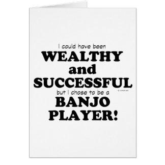 Cartão Banjo rico & bem sucedido