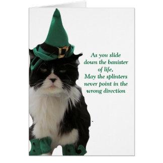 Cartão Bannisters da vida - o dia de St Patrick feliz!
