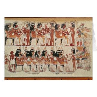Cartão Banquet a cena, de Thebes, c.1400 BC