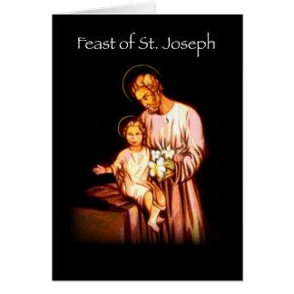 Cartão Banquete 3821 do preto de St Joseph
