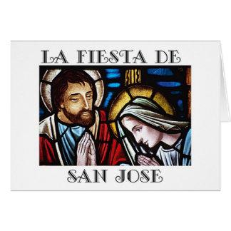 Cartão Banquete de Festa de San Jose de St Joseph