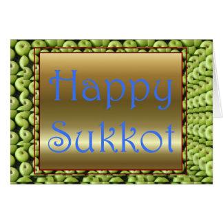 Cartão Banquete judaico de Sukkot do banquete de
