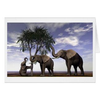 Cartão Banquete ou Fome-Elefantes - personalizado