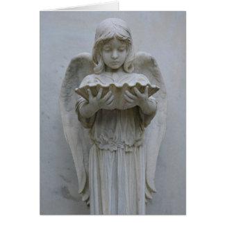 Cartão Cartão baptismal do anjo (vista dianteira)