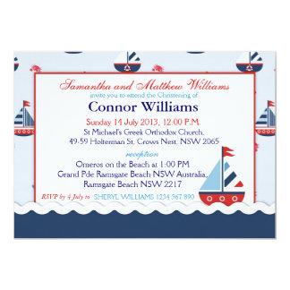 Cartão Baptismo náutico dos veleiros