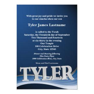Cartão Bar conhecido personalizado Mitzvah de Tyler