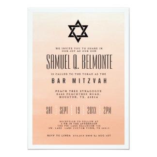 Cartão Bar coral Mitzvah de Ombre  