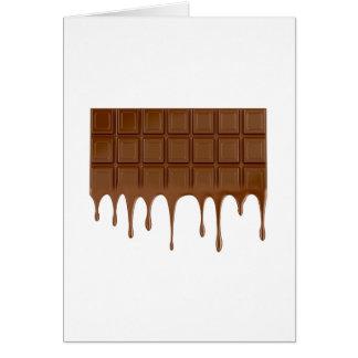 Cartão Bar de chocolate derretido
