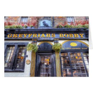 Cartão Bar Edimburgo de Greyfriars Bobby