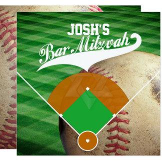 Cartão Bar Mitzvah do diamante de basebol do ✡ de
