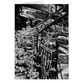 Cartão Bar preto & branco