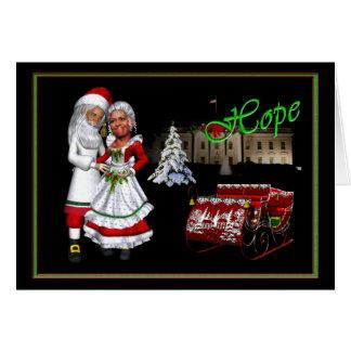 Cartão Barack & Natal de Michelle Obama