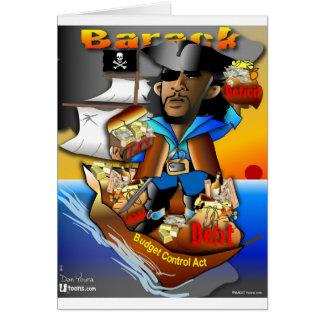 Cartão Barack o pirata